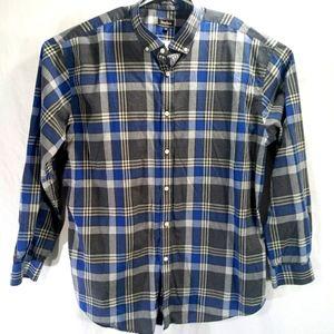 Neiman Marcus 2XL long sleeve plaid shirt